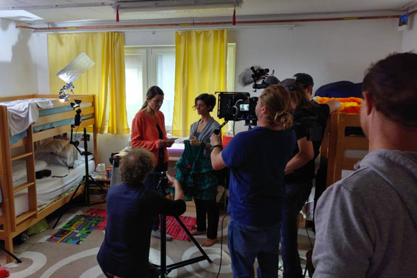 film-shooting-at-the-refugee-camp